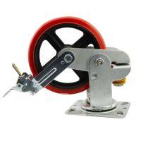 大世脚轮 浇注聚氨酯避震脚轮 实心带护盖弹簧 可定制