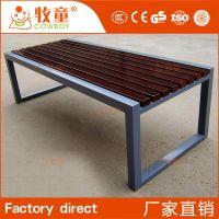 定制户外不锈钢欧式休闲椅长排椅 户外椅子园林厂家直销