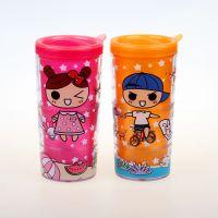 厂家直销476随变双层休闲水杯(350ML)儿童环保水杯