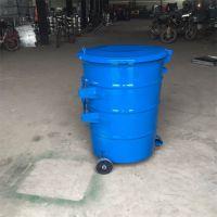 沧州志鹏供应240l圆桶 圆形挂车垃圾桶 240L大垃圾桶 户外垃圾桶