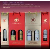红酒包装盒葡萄酒礼品盒单支双支装750ML瓦楞手提酒盒定制