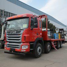 可拉30吨的江淮前四后八挖机拖车 30吨四轴挖机拖车厂家