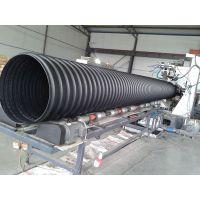 供应钢带增强螺旋管设备 PE中空壁塑料井缠绕管生产线 青岛塑料机械