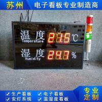 壁挂式工业温湿度显示屏温湿度看板工厂车间生产管理LED屏