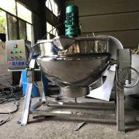 不锈钢夹层锅厂家 刮边搅拌炒辣子鸡夹层锅