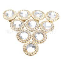 30mm水晶钻石 镶钻拉手 金色银色 高档