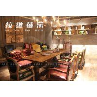 西安咖啡厅实木家具咖啡厅创意家具定做生产