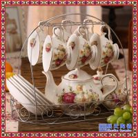 英式下午茶欧式田园咖啡具套装陶瓷茶具15头家用礼品