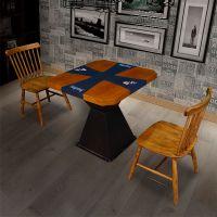 咖啡厅 甜品店 烤肉店 火锅店 西餐厅 卡座式餐厅 简约现代风 板材温莎椅台面来图定制卡座台面