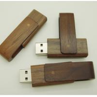 个性创意旋转木质u盘4G 私人定制可刻字U盘16g DIY环保胡桃木U盘8G