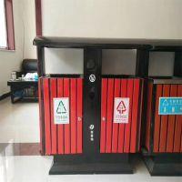 沧州绿美供应户外垃圾桶果皮箱 分类钢木垃圾桶大号环卫室外垃圾箱双桶垃圾桶