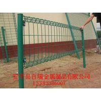 百瑞双圈护栏 浸塑低碳钢丝围栏网 小区道路公路护栏网