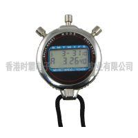新款多功能防水金属表壳运动电子秒表计时器
