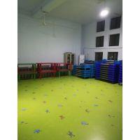 济南幼儿园塑胶地板施工厂家卡通纯色地板批发