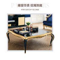 齐居置家欧式沙发实木沙发组合双人单人沙发金色奢华简欧沙发定制