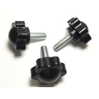 黑色梅花手柄螺丝六角手拧把手螺栓小旋钮塑胶胶头螺丝M4M5M6M8M10