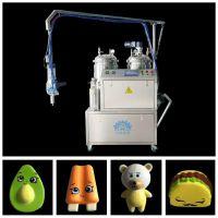 久耐机械慢回弹玩具生产机器设备 PU聚氨酯低压微量小型发泡机