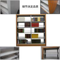 渝威杰钢制书架学校图书馆单面双面木护板阅览室书店书架档案资料架DR-093