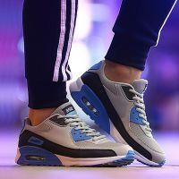 厂家直销八哥休闲网面气垫跑步鞋男女运动鞋透气情侣鞋厚底增高鞋