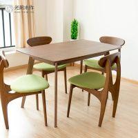 实木餐桌小户型简约餐桌椅组合日式长方形白橡木北欧宜家餐桌定制