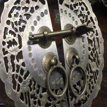精心打造技艺精湛古铜电镀隔断 铝雕花镂空屏风订做