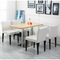 倍斯特简约现代咖啡西餐仿木餐椅现代化甜品奶茶酒店餐饮矮背椅厂家定制