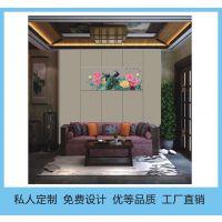 众威家居定做硬包刺绣背景墙卧室沙发床头刺绣软包海绵皮革杭州生产厂家