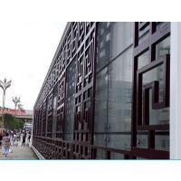 宁波景区门窗定制仿古铝花格 防腐木纹铝花格厂家
