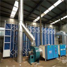 山东专业制作活性炭废气处理环保设备 活性炭环保箱 干式漆雾收集器 乐旺质保一年 质量领先