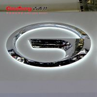 广汽传祺汽车车标 透明亚克力吸塑电镀车标 户外发光门头汽车logo