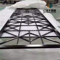 厂家生产201不锈钢屏风 金属不锈钢花格 黄钛金屏风厂家可定制架电镀