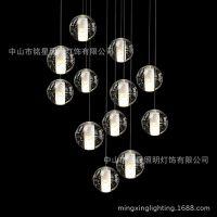 Bocci设计软装灯具商场中庭吊挂创意LED流星雨吊灯卖场中庭吊挂灯