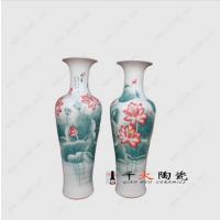 供应陶瓷大花瓶 中国红大花瓶 青花大花瓶1米-3.5米的大花瓶