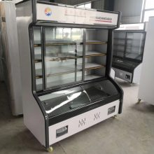 双丰点菜柜展示柜 商用立式双温冷藏冷冻蔬菜保鲜柜
