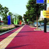 品石78彩色透水路面技术性资料 浙江杭州白石路彩色透水路面材料价格