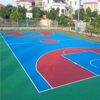 四会学校专用篮球场材料 柏克体育厂家批发 标准7层篮球场施工