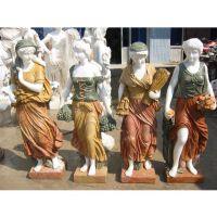 石雕欧式人物雕塑|汉白玉西方四季丰收女神雕像