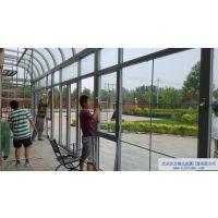 北京顺义南彩蓝岸丽舍弧形顶阳光房封门厅 断桥铝封门厅