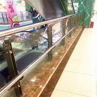 金裕 不锈钢玻璃栏杆扶手 厂家直销大型商场扶手 玻璃护栏设计安装立柱