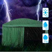 全国优质活动帐篷悬空阳蓬 移动推拉雨棚布 工地阳篷 夜宵排挡蓬哪家好
