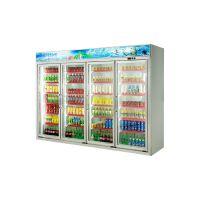 安德利厂家订制四门饮料柜 啤酒牛奶冷藏柜 多门冷冻饮料柜展示柜BFH-4