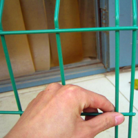 鑫筑公路护栏网 现货包塑铁丝护栏 围栏网价格