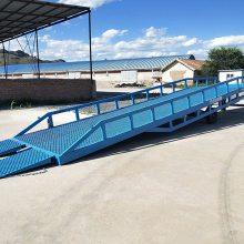 义乌仓库集装箱卸货平台 可移动式手摇液压升降登车桥批发商