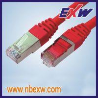 宁波卓新(EXW) 高品质六类双屏蔽SSTP跳线PVC/LSOH 千兆跳线 六类屏蔽跳线