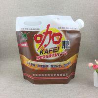 大出水口5公斤液体肥料塑料包装袋定做10斤防胀气果蔬浓缩肥吸嘴袋厂家