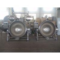 不锈钢夹层锅 蒸汽加热行星搅拌可倾斜400L夹层锅