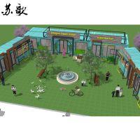 天津集装箱改造风情街、商业街专业设计定制 寿命长、安全性高、节能环保