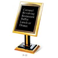 供应南方P-22斜面酒店指示牌 钛金展示广告牌