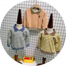 爆款童装男女宝宝小熊造型连帽卫衣儿童休闲上衣绒衫女童外套