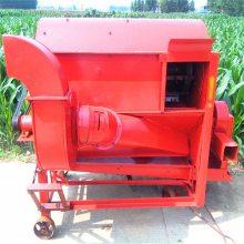 农用轮式小麦水稻收获脱粒机 富兴机械供应小型脱粒设备
